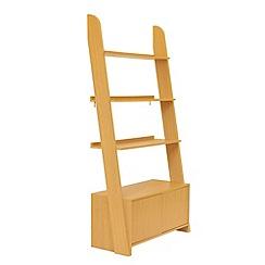 Debenhams - Wood effect 'Nash' open shelving unit with cupboard