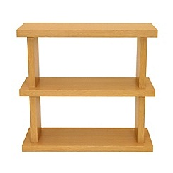 Debenhams - Wood effect 'Nash' small bookcase