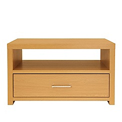 Debenhams - Wood effect 'Nash' coffee table with single drawer