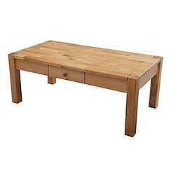 Debenhams - Oak 'Ontario' coffee table with single drawer