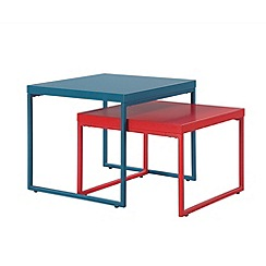Ben de Lisi Home - Colourful metal 'Helsinki' nest of 2 tables