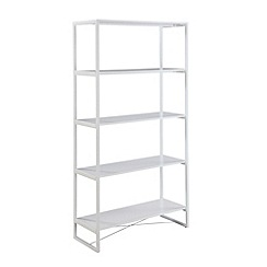 Ben de Lisi Home - White metal 'Helsinki' open shelving unit