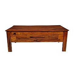 Debenhams - Sheesham wood 'Goa' coffee table with single drawer