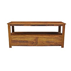 Debenhams - Sheesham wood 'Goa' TV unit