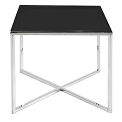 Debenhams - Black glass 'Vancouver' square side table