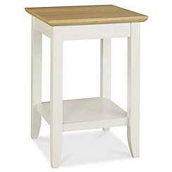 Debenhams - Oak and painted 'Burton' side table