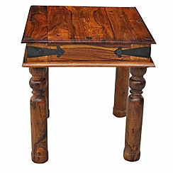 Debenhams - Sheesham wood 'Maharaja' side table