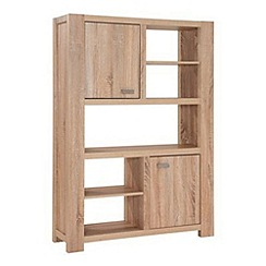 Debenhams - Washed white oak effect 'Cleves' bookcase