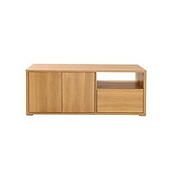 Debenhams - Oak effect 'Benjamin' TV unit