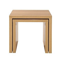 Debenhams - Oak effect 'Benjamin' nest of 2 tables