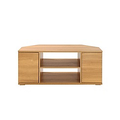 Debenhams - Oak effect 'Benjamin' corner TV unit