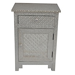 Debenhams - Embossed metal 'Odisha' side table