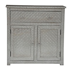 Debenhams - Embossed metal 'Odisha' sideboard