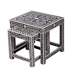 Debenhams - Bone inlay 'Ankara' nest of 2 tables