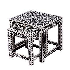 Debenhams - Bone inlay 'Ankara' nest of 2 tables