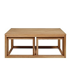 Debenhams - Oak 'Tokyo' coffee table set