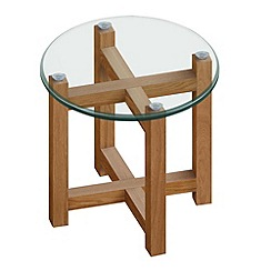 Debenhams - Oak and glass 'Tokyo' side table