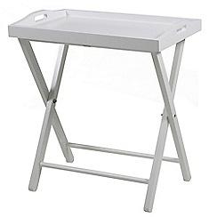 Debenhams - White 'Vinny' tray table