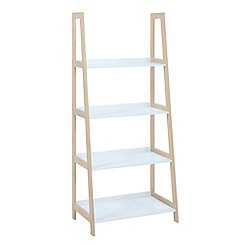 Debenhams - Bamboo and white 'Westwood' medium open shelving unit