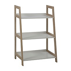 Debenhams - Bamboo and white 'Westwood' small open shelving unit