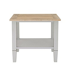 Debenhams - Oak effect and grey 'Rustic' side table