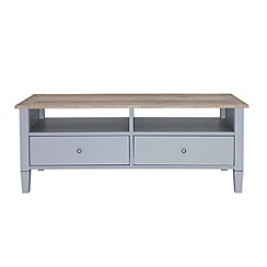 Debenhams - Oak effect and grey 'Rustic' TV unit
