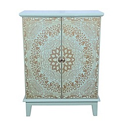 Debenhams - Green painted 'Jade' small sideboard