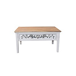 Debenhams - Mango wood and cream painted 'Freya' coffee table