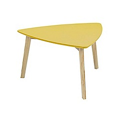 Debenhams - Yellow 'Venice' coffee table