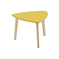 Debenhams - Yellow 'Venice' side table