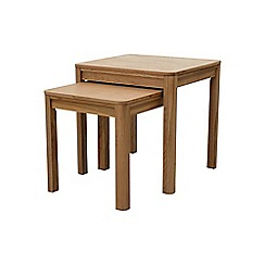 Ben de Lisi Home - Oak 'Seattle' nest of 2 tables