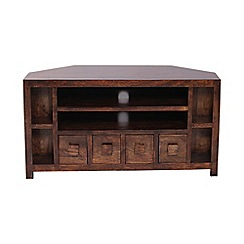 Debenhams - Mango wood corner TV unit