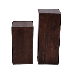 Debenhams - Mango wood side table set