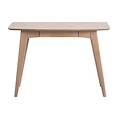 Debenhams - Oak finished 'Marley' rounded desk