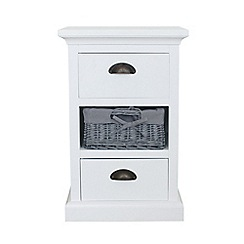Debenhams - White and grey wicker 'Sandringham' 3 drawer chest