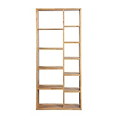 Debenhams - Oak effect 'Fenton' open shelving unit