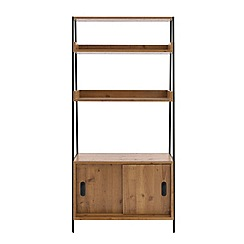 Debenhams - Pine effect and metal 'Brunel' shelving unit