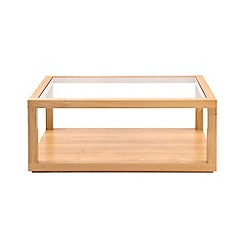 Debenhams - Oak effect and glass 'Benjamin' coffee table