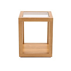 Debenhams - Oak effect and glass 'Benjamin' side table