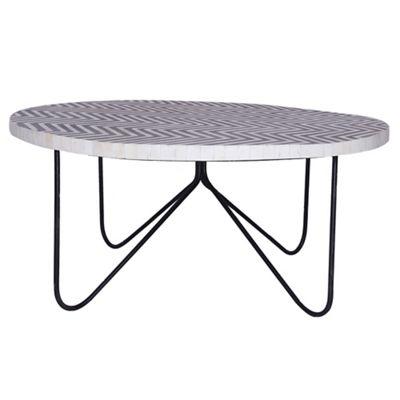 debenhams bone inlay 'ankara' side table | debenhams