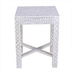 Debenhams - Bone inlay 'Ankara' side table