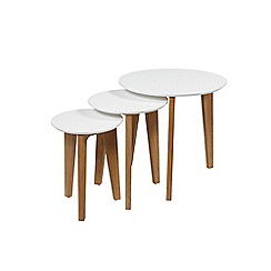 Debenhams - Oak and white 'Alvik' nest of tables