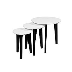 Debenhams - Oak and white 'Alvik' nest of 2 tables