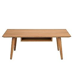 Debenhams - Oak 'Marley' coffee table with shelf