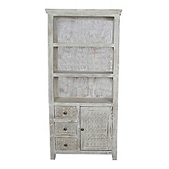 Debenhams - Mango wood 'Ashoka' display cabinet