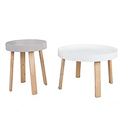 Debenhams - Round 'Noma' tray nest of 2 tables