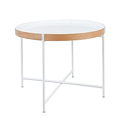 Debenhams - Large 'Fjord' round tray side table