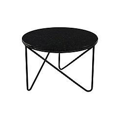 J by Jasper Conran - Black marble 'Oskar' small side table