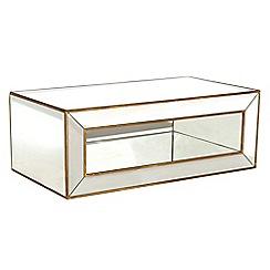 Debenhams - 'Fusion' mirror rectangular coffee table