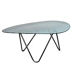 Debenhams - Ombre glass elliptical coffee table
